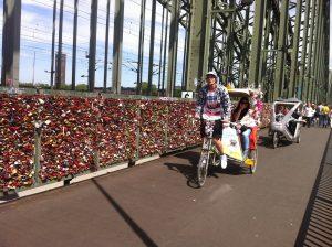 Mit der Fahrradrikscha unterwegs