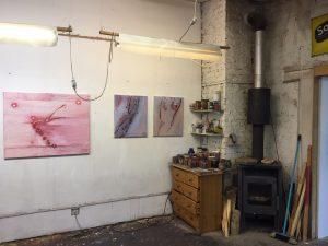 Im Atelier des Kölner Malers Dieter Laue