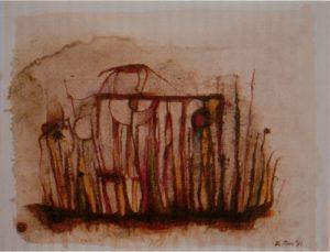 [Dschungelbild] Aquarell, Tusche auf Papier, 1981