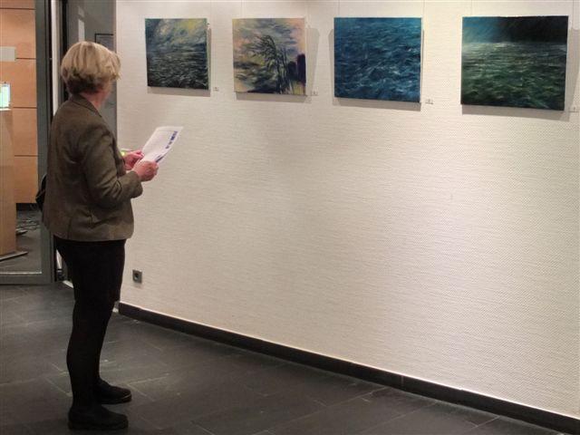 """Einzelausstellung """"Neuanfang"""" in der Kölner Pensionskasse 2013"""
