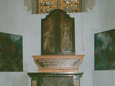 Installation in der Kartäuserkirche in Köln am 01.10.1989
