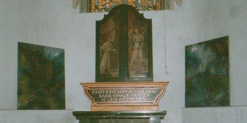 Installation in der Kartäuserkirche in Köln am 01.10.1989