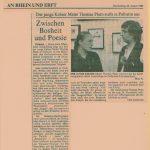 Zeitungsartikel zu meiner ersten Einzelausstellung
