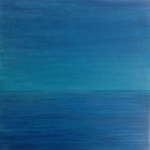#116 [La Mer] Diptychon: Pigmente, Acryl auf Lw., 30*50 cm (oben) / 20*50 cm (unten), 2017
