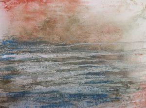 #44 Pigmente, Marmormehl, Gummi arabicum, Acryl auf Lw., 50*70 cm, 2015