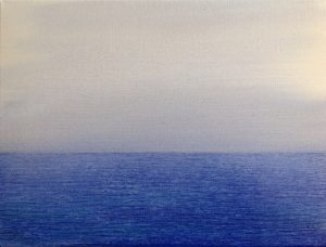 #131 Pigmente, Dammarfirnis auf Lw., 30*40 cm, 2018
