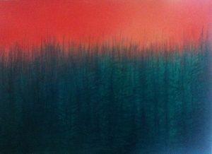 [Nadelwald] Öl, Standöl auf Lw., 50*70 cm. 2013