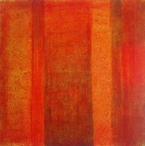 #33 Pigmente, Grünerde, Acryl auf Lw., 60*60 cm, 2015