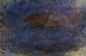 #89 Pigmente, Marmormehl, Stahlwolle, Eisenpulver, Salz, Oxido Kupfer, Chroma Kupfer, Gummi arabicum auf Papier, 53*78 cm, 2016