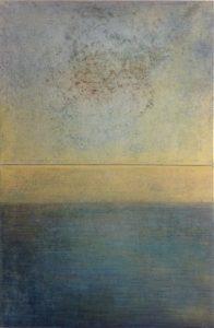 #93 [Diptychon] Aquarell, Oxido Kupfer, Pigmente, Acryl auf Lw., 2 x 30*40 cm, 2016
