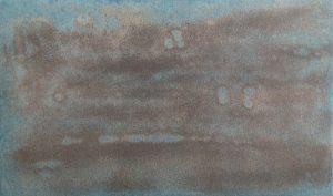 #119 Pigmente, Marmormehl, Graphit, Gummi arabicum, Acryl auf Lw., 30*50 cm, 2017,-