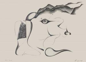 [ma pipe], Bleistift auf Papier, 14*20 cm, 1975