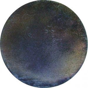 #100 Pigmente, Sand, Marmormehl, Eisenpulver, Stahlwolle, Salz, Gummi arabicum auf Lw., ø 50 cm, 2016