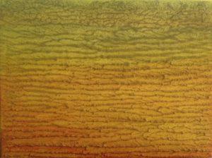 #95 Pigmente, Sand, Acryl, Aquarell auf Lw., 30*40 cm, 2016