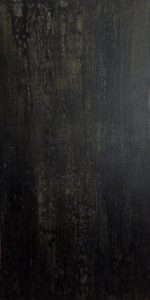 #151 [Schwarz Grau Gold] Pigmente (Mangangrau, Oxidschwarz), Colibri Gold, Gummi arabicum auf Lw., 100*50 cm, 2019