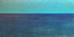 #115 Pigmente, Acryl auf Lw., 50*100 cm, 2017